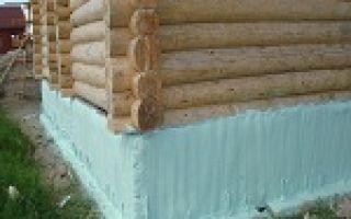 Утепление старого фундамента деревянного дома