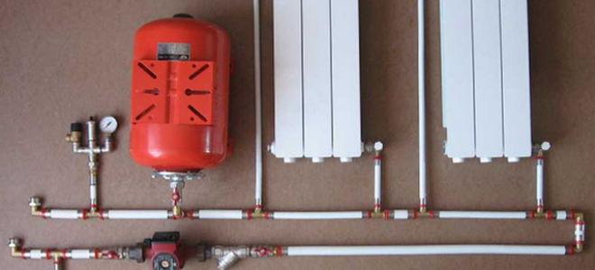 Схема отопления одноэтажного частного дома с принудительной циркуляцией