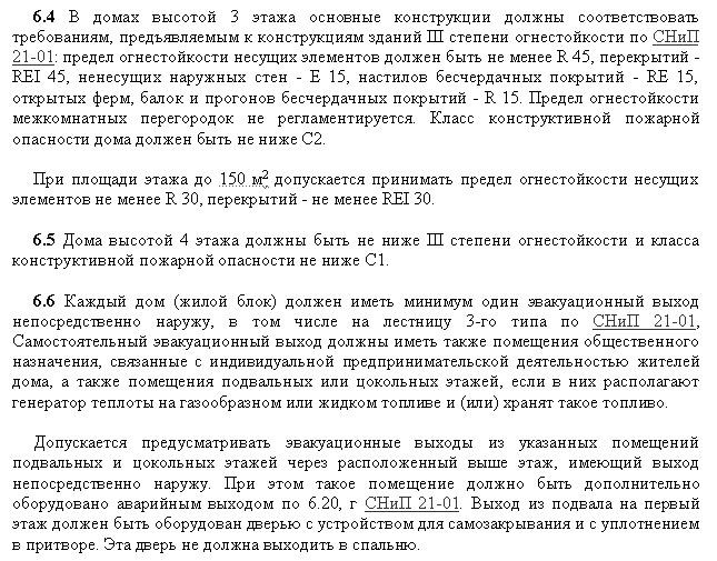 04 СНиП 31-02-2001 Пожарная безопасность 2