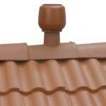 Коньковый узел крыши с дефлектором А