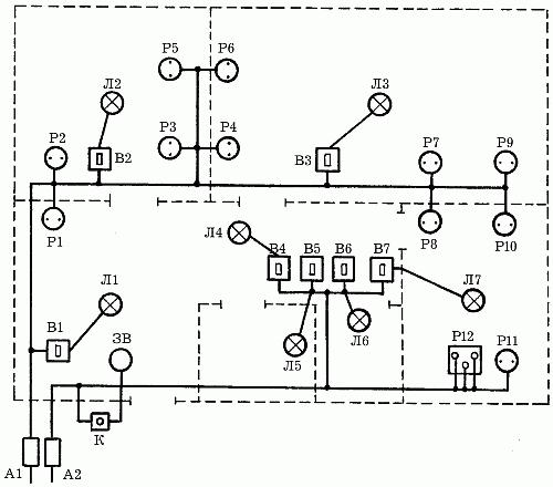 Электропроводка в деревянном доме схема 3