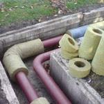Утепление канализации в земле А