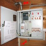 Электрическая проводка в двухэтажном доме – схема 1