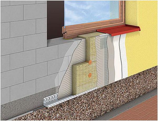 Наружное утепление фундамента дома: чертежи и схемы 3