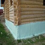 Утепление старого фундамента деревянного дома 1