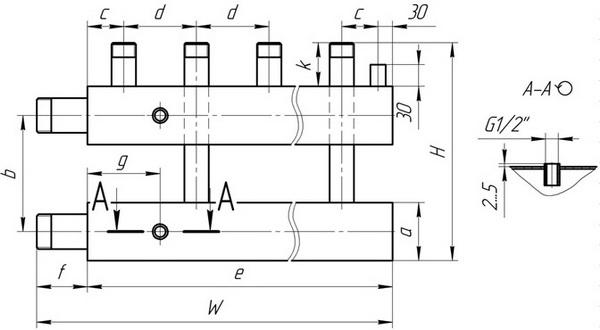 Распределительная гребенка системы отопления - как работает лучевая разводка системы отопления в доме 3