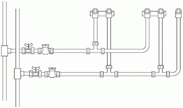 Трубы для водопровода в доме – утепление и схема 2