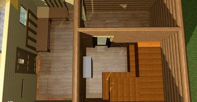 Баня 4 на 4 - планировка внутри и фото 8