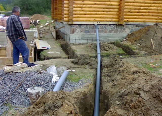 Простая канализация в бане своими руками - схема 1