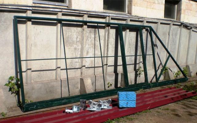 Схема откатных ворот с размерами - делаем своими руками 3