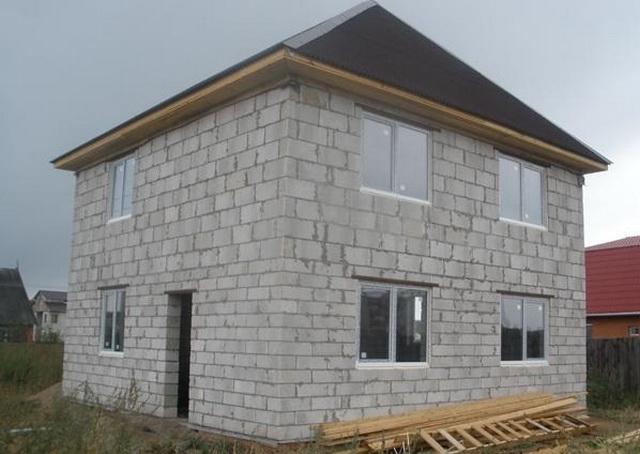 Сколько кубов пеноблока нужно для строительства дома 8 на 8 метров 2