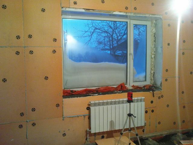 Утепление стен изнутри пеноплексом и гипсокартоном 4