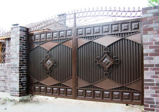 Ворота своими руками – чертежи, схемы, эскизы, конструкции 9