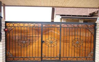 Откатные ворота с калиткой внутри – фото и варианты