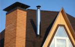 Дымоход через крышу – схема и комментарии