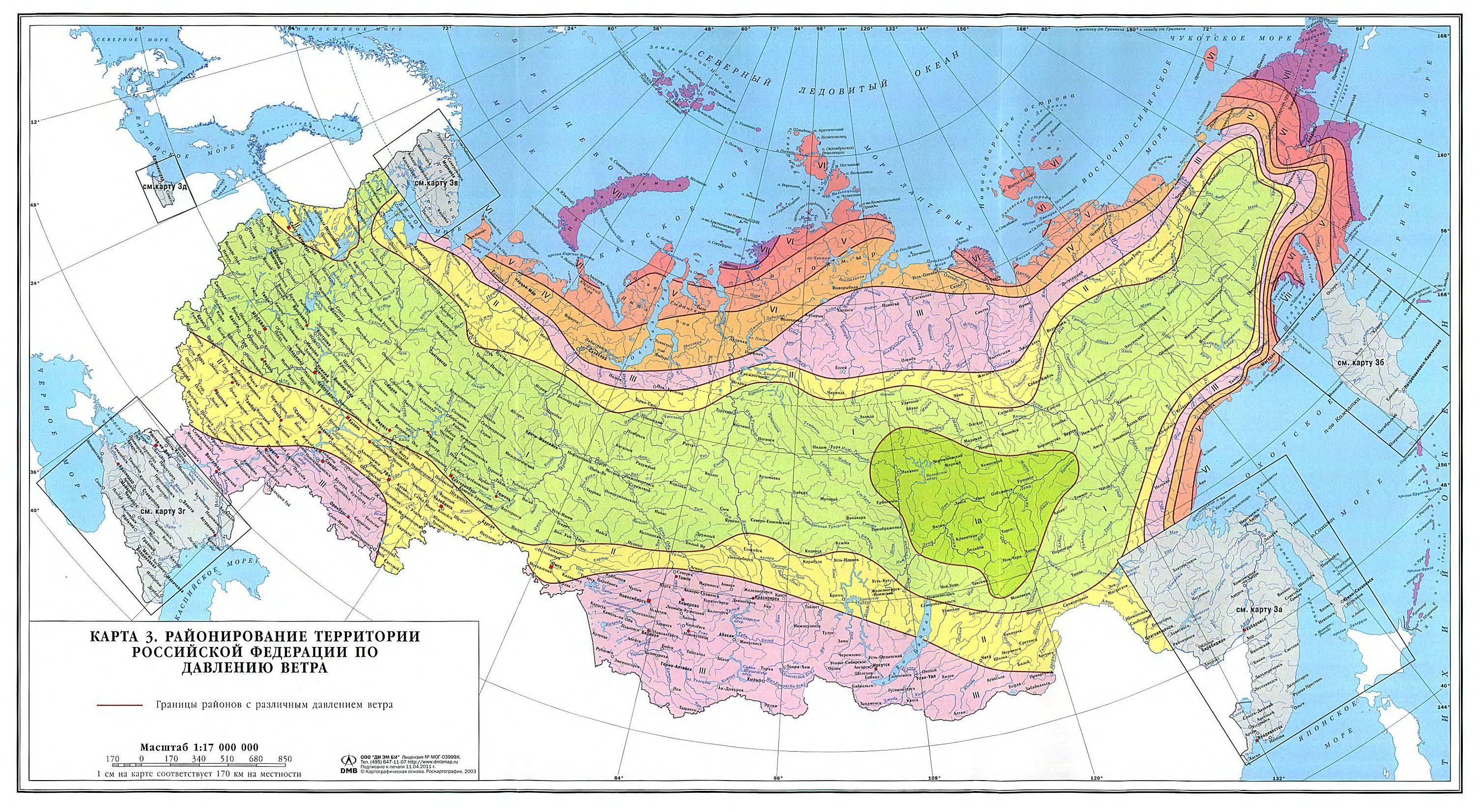 Карта ветрового давления 2