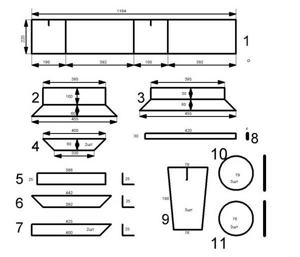 Станок для производства блоков своими руками и его чертежи