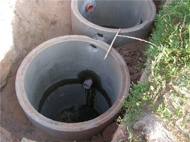 Схема канализации из бетонных колец 1