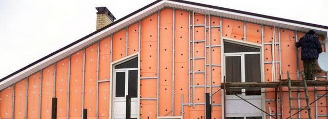 Утепление стен снаружи пеноплексом с последующей обшивкой сайдингом 2